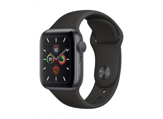 PRE-ORDER: Apple Watch Series 5 GPS 44mm Space Grey Aluminium Case with Black Sport Band 2