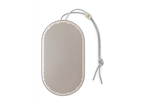 B&O PLAY by Bang & Olufsen Beoplay P2 Portable Bluetooth Speaker with Built-In Microphone - Sand Stone