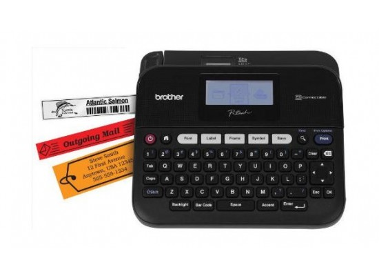 Brother PC-Connectable Label Maker with Display and Carry Case (PT-D600VP) - Black
