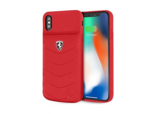 cheap for discount 468ad 1de13 Ferrari 4200 mAh Power Case for Apple iPhone XS MAX - Red