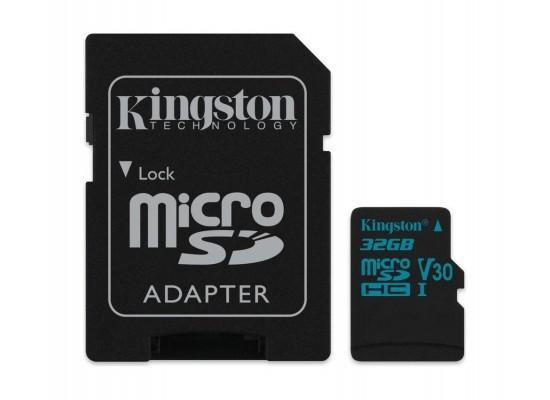 Kingston Canvas Go Class 10 U3 MicroSD Card + Adapter - 32GB