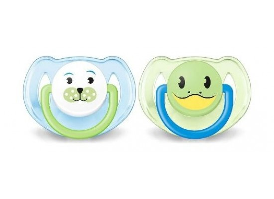 Philips Avent Classic Silicon Soother 2pcs Animal - 6-18m 1