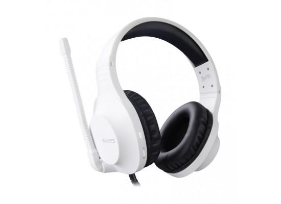 Sades Spirits Wired Gaming Headset - White
