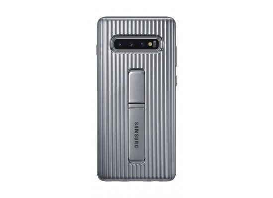 Samsung Galaxy S10 Plus Protective Standing Case - Silver 1