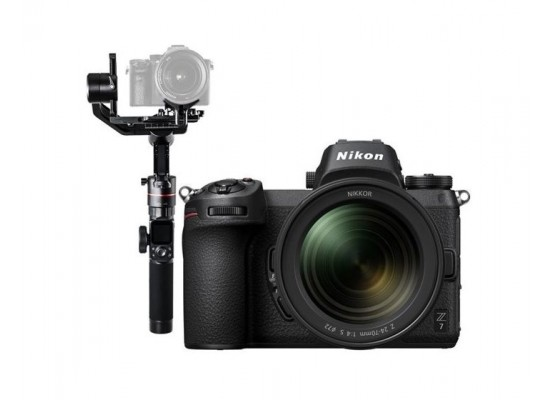 Nikon Z 7 Mirrorless Digital Camera With 24-70mm Lens + eiyuTech AK2000 Wi-Fi Gimbal Stabilizer