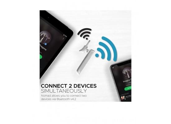 Promate Nomad Ultra-Slim Professional Wireless Mono Headset - White