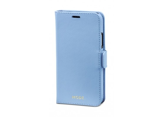 dbramante1928 New York Series iPhone X Leather Case (NYIXFOBL5123) - Blue