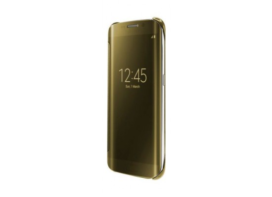 save off 41fd0 04ccf Samsung Clear View Cover for Galaxy S6 Edge - Gold + Galaxy Wireless ...