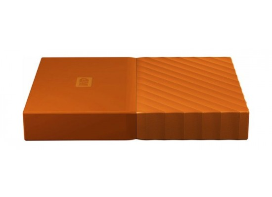 WD 4TB My Passport USB 3.0 Secure Portable Hard Drive, Orange  Ports
