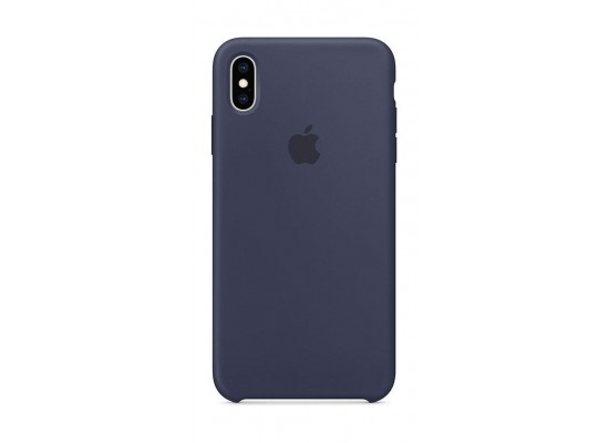 new concept 79ad8 1434c Apple iPhone XS MAX Silicone Case - Midnight Blue