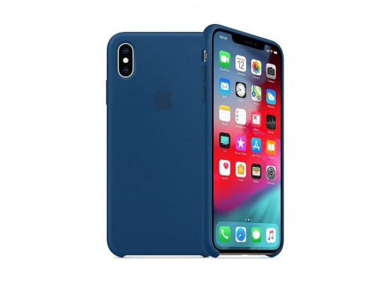 the best attitude bf5f9 51f30 Apple iPhone XS MAX Silicone Case - Blue Horizon