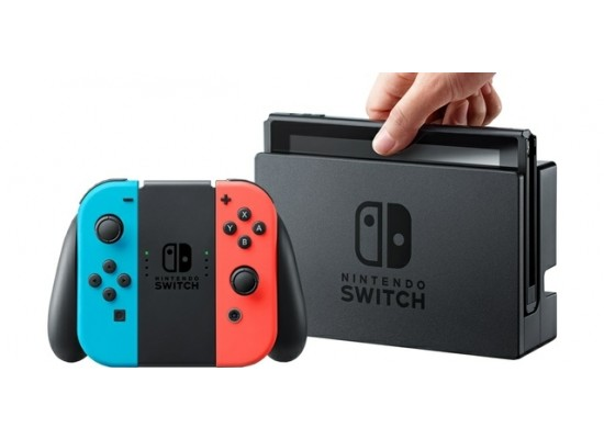 Nintendo Switch Console Neon Extended Battery
