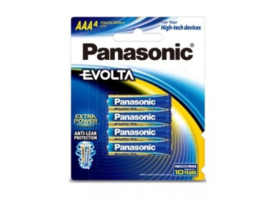 Panasonic Evolta AAA Alkaline Battery - Pack of 4 (LR03EG/4B)