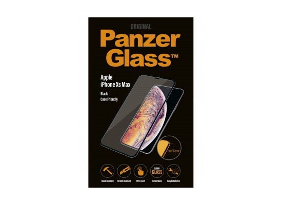 Panzer Glass Case Friendly iPhone XS Max Screen Protector (2643) - Black