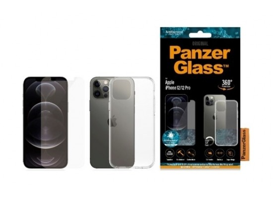 PanzerGlass iPhone 12 Pro Exclusive Bundle Standard Glass with Case - Clear