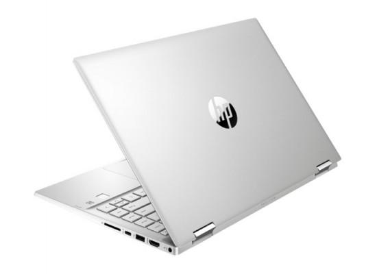 """HP Pavilion x360 Intel Core i3 11th Gen. 4GB RAM 256GB SSD 14"""" Convertible Laptop (14-DW1000NE) - Natural Silver"""
