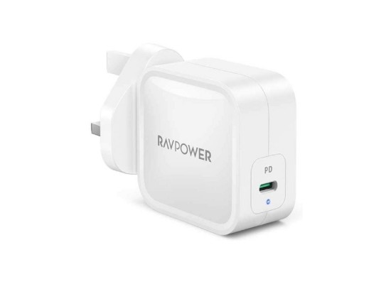 RAVPower Gan PD Pioneer 61W Wall Charger (RP-PC112) - White