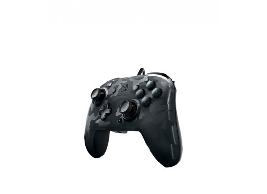 PDP Faceoff Deluxe+ Audio Nintendo Switch Wired Controller - Black Camo