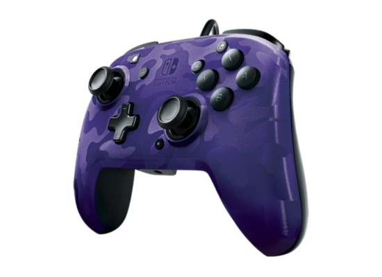 PDP Faceoff Deluxe+ Audio Nintendo Switch Wired Controller - Purple Camo