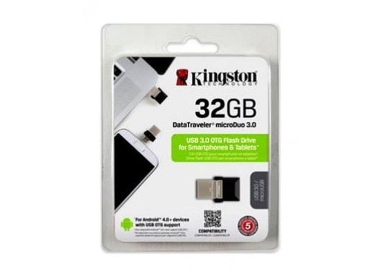 Kingston 32GB 2.0 Flash Drive OTG Data Travel MicroUSB (DTDUO3)