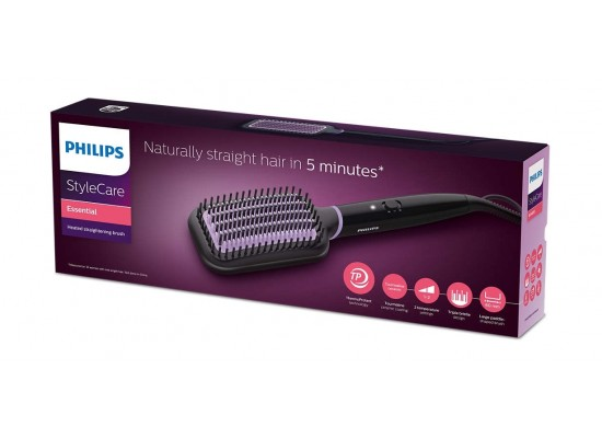 Philips Heated Straightening Hair Brush - BHH880/03