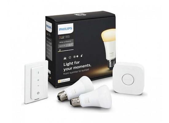 Philips Hue Ambiance 9.5 Watts LED Light Starter Kit - White