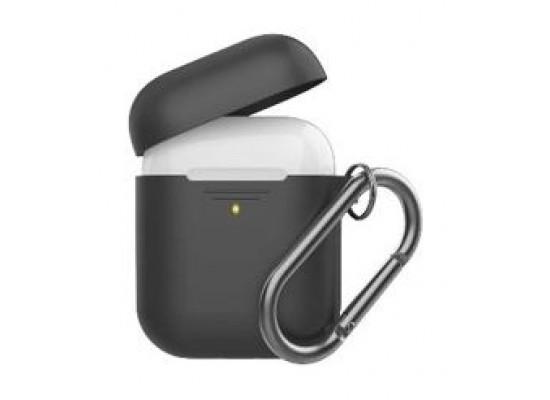 Promate Silicon Cover Case for Airpods - Black