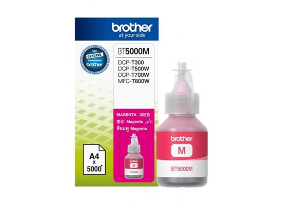 BROTHER Ink BT5000M for Inkjet Printing 5000 Page Yield - Magenta (Single Colour Pack)