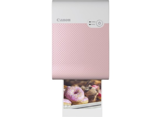Canon Selphy Square QX10 Compact Photo Printer - Pink