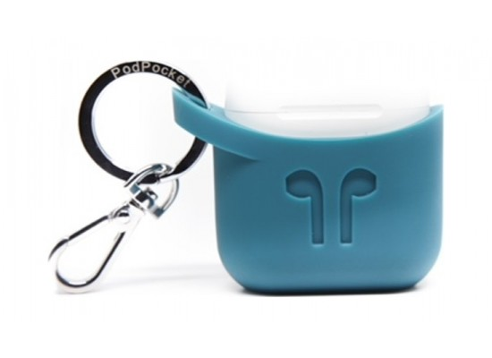 promo code 8a8fd 50ae8 Podpocket Apple Airpod Keychain Carrying Case - Cosmos Teal