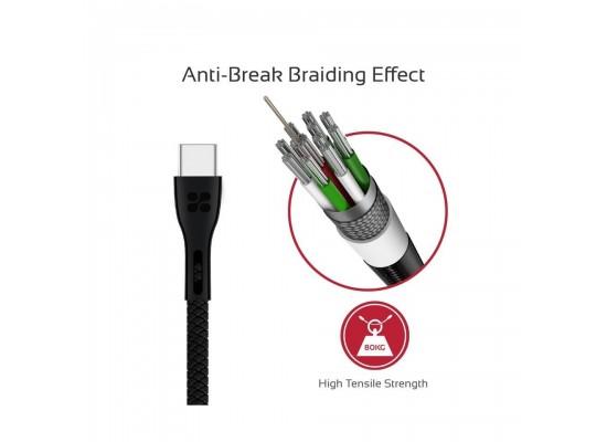 Promate PowerBeam-C 1.2 Meter USB-C Cable - Black