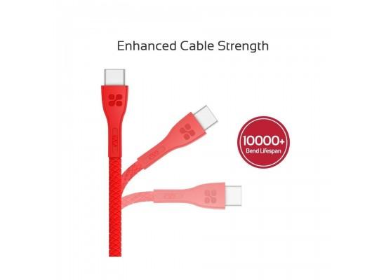 Promate PowerBeam-C 1.2 Meter USB-C Cable - Red