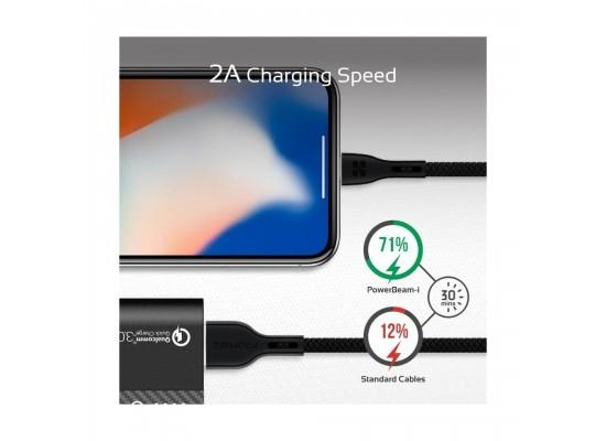 Promate PowerBeam-i 1.2 Meter Lightning Cable - Black