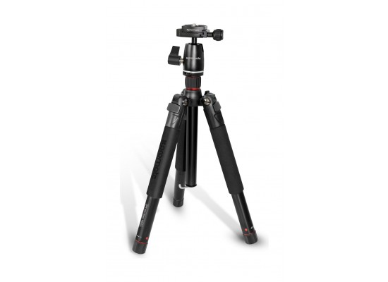 Promate Aluminum Portable and Adjustable Camera Tripod (Precise-155) - 153 cm