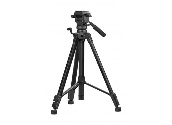 Promate Aluminum Portable and Adjustable Camera Tripod (Precise-170) - 170 cm