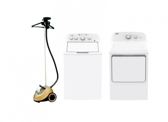 Frigidaire 17Kg Top Load Washer + Frigidaire 10KG Dryer + Princess Vertical Steamer Pro 3