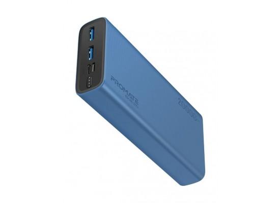 Promate Bolt-20 20000mAh Compact Smart Charging Power Bank - Black