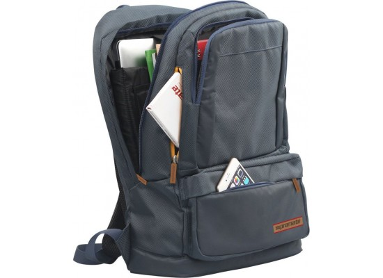 Promate Drake Lightweight Backpack for Laptops up to 15.6-inch (DRAKE.BLUE) - Blue