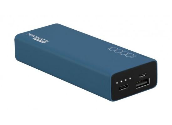 Promate Energi-10C 10000mAh High Capacity Dual USB Powerbank - Blue