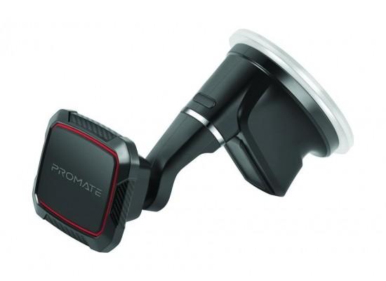 Promate MagMount-5 Anti-Slip Cradle Free Magnetic Car Mount - Maroon