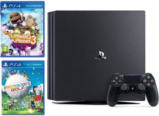 Sony PS4 Pro 1TB Gaming Console + Little Big Planet 3 + Everybodys Golf Standard Edition