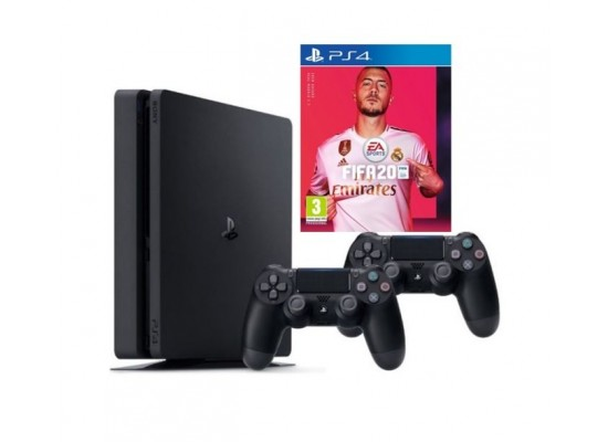 PlayStation 4 1TB + FIFA 20 Standard Edition + 2 DS4 Wireless Controller