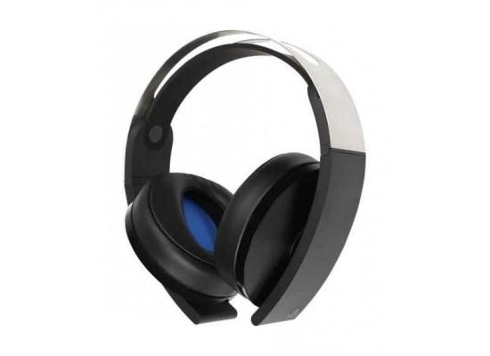 PS4 Platinum Wireless Headset (CECHYA-0090) – Black Angled View 1