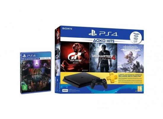 Sony PlayStation 4 Slim 500GB + 4 PlayStation 4 Games + 3 Months PSN Card