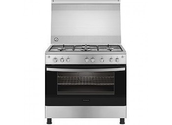 Frigidaire 90X60cm 5 Burner Gas Cooker (FNGC90JGRSO) - Stainless Steel