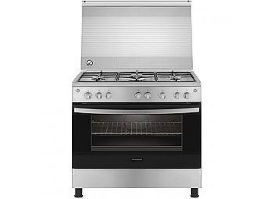 Frigidaire 90X60cm 5 Burner Gas Cooker + Frigidaire 90cm Chimney Cooker Hood