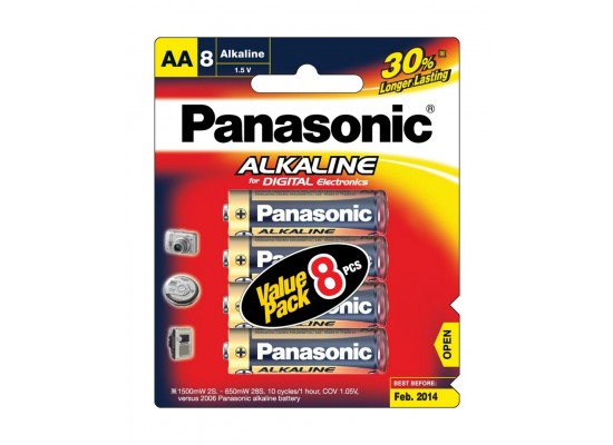 Panasonic AA Size Battery Promo Pack (8+4)