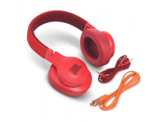 JBL E55BT Bluetooth Over-Ear Wireless Headphones - Red