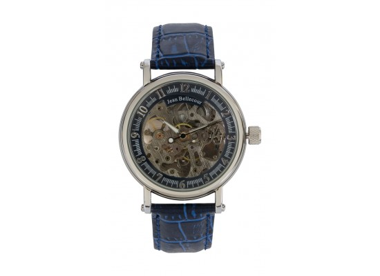 Jean Bellecour Automatic Analog Gents Watch – Leather Strap (REDS29)