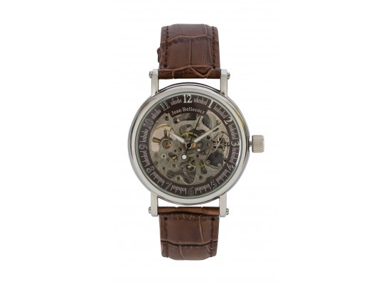 Jean Bellecour Automatic Analog Gents Watch – Leather Strap (REDS30)